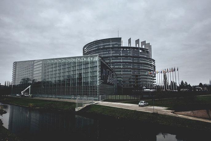 Das EU-Parlamentsgebäude in Straßburg